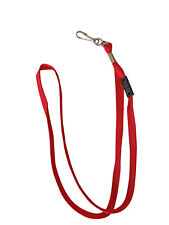 Premium Lanyard with Safety Breakaway Clasp, Swivel J Hook (1pc, Red)