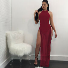 Sexy Womens Sleeveless Bandage Bodycon Evening Party Cocktail Club Wear Dress!