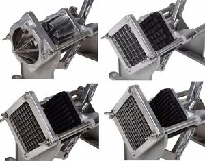 MANUAL POTATO CHIPPER VEGETABLE CUTTER CHIP STAINLESS STEEL 4 BLADES NEW