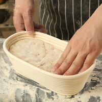 Handmade Oval Bread Rattan Basket Banneton Brotform Dough Rising Liner Basket