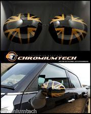 Mini R55 R56 R57 R58 R60 or R61 Union Jack Miroir Cap Couverture Pour Manuel Pli