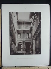 Rare Antique Original VTG 18th Century House At Ahmedabad Engraving Art Print