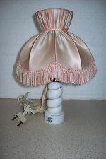 Lampe de table Pied opaline Vintage Romantique.