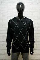 TOMMY HILFIGER Maglione Taglia 2XL Cardigan Maglia Pullover Uomo Man Sweater