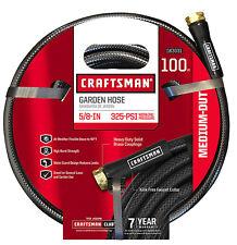 Craftsman Garden Hose 5/8 Inch 100 ft Black Medium Duty Brass Coupling