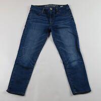 AMERICAN EAGLE Hi Rise Super Stretch Jegging Crop Jeans Size 2