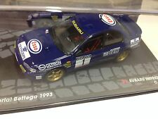 1/43 SUBARU IMPREZA 555-RALLYE MEMORIAL BETTEGA 1993-Mac RAE-IXO RALLY CAR-McRae
