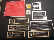 Alfa Romeo 145 155 156 stickers restoration decals vinyl