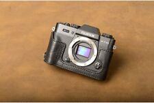 VR Genuine Leather Camera Half Case for Fujifilm X-T30 XT30 X-T20 X-T10 Black