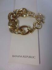 Toggle Bracelet Nwt $59 Banana Republic Glamour Pave Link