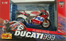DUCATI 999 FILA RUBEN XAUS 1:18 MAISTO SUPERBIKE MOTORCYCLE  DIECAST DIE CAST