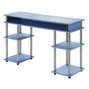 Convenience Concepts Designs2Go No Tools Student Desk, Blue - 131436BE