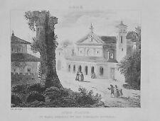 1834.Stampa/Acciaio=ACQUA CLAUDIA,S.MARIA-S.STEFANO=ROMA.Italie Pittoresque.ETNA