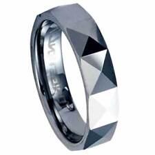 Man's Diamond-cut Polished Tungsten Band Ring Sz 13