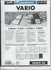 New Vario Stock Sheets 6S Two-Sided Horizontal Pockets Black Pkg. 5
