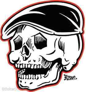 Rodder Skull Sticker Decal by Artist Kruse RK33