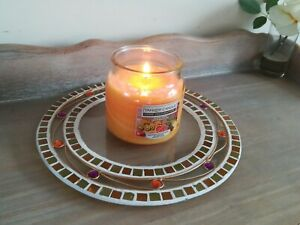 Aroma Candle Mosaic Plate for Large Jar Yankee Candles NEW