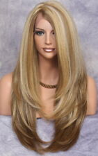 Long Layered Heat Safe Full SOFT Swiss Lace Front wig Straight JSLA 2216