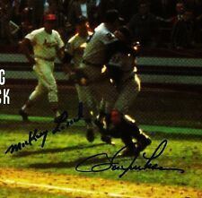 MICKEY LOLICH & BILL FREEHAN reprint Auto-photo-Tigers Win the 1968 Series-WOW!!