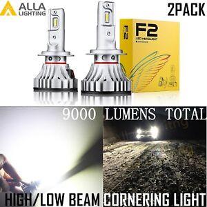 Alla Lighting H7 LED hd-light  Bulb hi  /lo  Beam/Cornering Light Bulb White,2pc