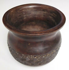 "Self-righting wobbly bowl wooden 3"" hand-carved wood possibly hunting cup"