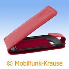 Flip Case Etui Handytasche Tasche Hülle f. HTC Windows Phone 8X (Rot)