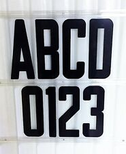 8 inch Flexible Outdoor Portable Marquee Sign Black letters Black numbers