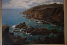 25Superbe peinture sur toile, marine bretonne, signé : P.Seston, peintre nantais