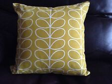 HANDMADE CUSHION COVER USING GENUINE ORLA KIELY LINEAR STEM FABRIC 40 X 40cm