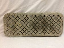 Antique Cast Iron Hot Water Steam Radiator Cover Plant Stand Garden Vtg 2296-16