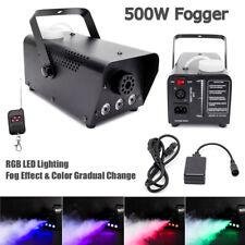 500W Smoke Machine Fog RGB LED Gradual Change DJ Stage Light Remote Disco Party