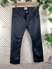 TIM HAMILTON Black Sheen Pants Trousers Size 32 Cotton Made In Japan Button Fly