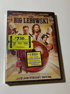 The Big Lebowski (2-Disc 10th Anniversary DVD Set) NEW Jeff Bridges John Goodman