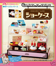 Re-ment Miniature Dollhouse Cake Bread Cookie Display Show Case rement