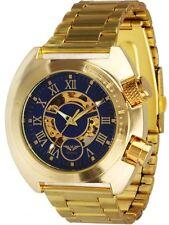 Minoir Uhren - Modell Virton gold/blau - Automatikuhr, Herrenuhr