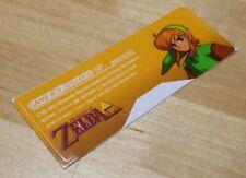 Nintendo Game Boy Advance SP GBA SP The Legend of Zelda Console Sticker Label