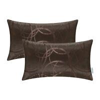 "2Pcs Coffee Cushion Cover Bolster Pillow Shell Circle Ring Geometric Sofa 12x20"""