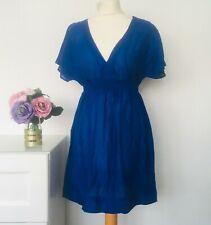 MARKS AND SPENCER Dress Size 8 Cobalt BLUE | Summer Beach Holiday Light M&S
