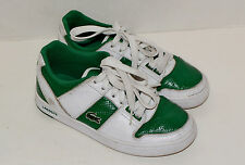 Lacoste Boy's Leather Shoes Size 6 Youth White/Green