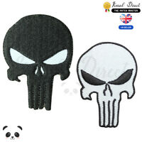 Punisher Skull  Embroidered Iron On /Sew On Patch Badge For Clothes etc
