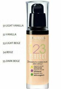 Bourjois 123 Perfect Foundation  Medium Coverage Liquid 3 Correcting Pigments