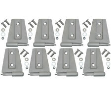 Door Hinge Set 4 Door Sandblasted Stainless Jeep Wrangler JK 07-16 40576 Kentrol