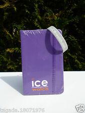 🍓 Bloc Note Neuf Ice Watch Couleur Violet Vendu  Avec Un Bracelet Gris