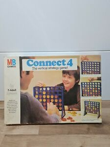Connect 4 MB Games Original 1976 Edition Vintage Retro Complete Boxed Strategy