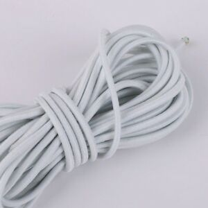 5M 2mm Round Elastic Thread Cord Rope Rubber Band Elastic Bands Stretch  Line