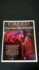 """Creed """"My Own Prison"""" (1998) Rare Original Print Promo Poster Ad"""