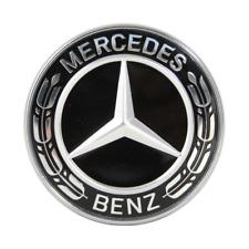 Fit Mercedes-Benz Star Flat Hood Bonnet Logo Emblem Badge High Gloss Black 57mm