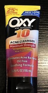 Oxy Acne Medication Face Wash Rapid Treatment Maximum Action 6.25Fl Oz Exp 07/22