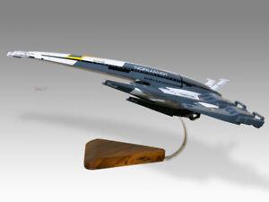 Normandy SR-2 Starship Captain Shepard Solid Kiln Dried Mahogany Wood Model
