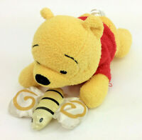 Disney Winnie The Pooh Butterfly Laying Squeak Baby Soft Toy Plush 9""